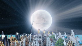 Stary i nowy Jeddah przy nocą ilustracja wektor