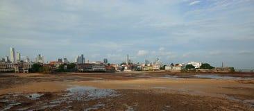 Stary i Nowy Panamski miasto zdjęcia stock