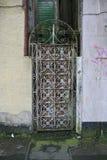Stary i tlenkowy metalu drzwi Obraz Royalty Free