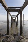 Stary i zaniechany jetty Obrazy Royalty Free