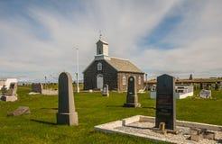 Stary Iceland kościół, cmentarz i obrazy stock
