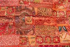 Stary Indiański patchworku dywan Rajasthan, India Zdjęcie Stock