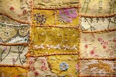Stary Indiański patchworku dywan Rajasthan, India Obrazy Stock