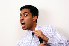 stary indyjski biznesowe krzyczeć Zdjęcie Stock