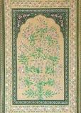 Stary indyjski kwiecisty ornament na drzwi w India Obrazy Stock