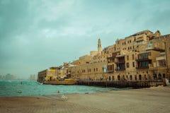 Stary Jaffa na chmurnym dniu Zdjęcia Stock