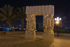 Stary Jaffa przy nocą. Izrael Zdjęcie Stock