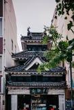 Stary japończyka Edo architektury budynek zostać bookstore w Matsu obraz stock