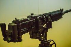 Stary Japoński lekki maszynowy pistolet 7 7 mm w jawnym muzeum Lekki maszynowy pistolet jest maszynowym pistoletem projektującym  Fotografia Royalty Free