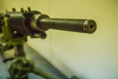 Stary Japoński lekki maszynowy pistolet 7 7 mm w jawnym muzeum Lekki maszynowy pistolet jest maszynowym pistoletem projektującym  Fotografia Stock