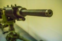 Stary Japoński lekki maszynowy pistolet 7 7 mm w jawnym muzeum Lekki maszynowy pistolet jest maszynowym pistoletem projektującym  Obraz Royalty Free