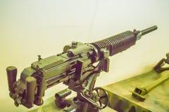 Stary Japoński lekki maszynowy pistolet 7 7 mm w jawnym muzeum Lekki maszynowy pistolet jest maszynowym pistoletem projektującym  Zdjęcia Royalty Free