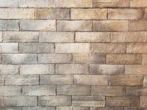 Stary jasnobrązowy rocznika ściana z cegieł grunge tekstury tło fotografia royalty free