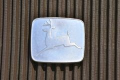 Stary jeleni logo John Deere ciągnika firma obrazy royalty free