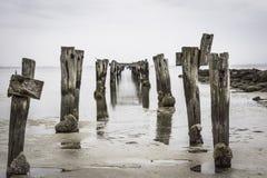 Stary jetty prowadzi żadny dokąd Zdjęcie Stock