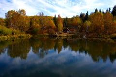 stary jeziora łodzi rybackich Zdjęcie Royalty Free