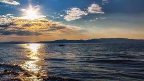 stary jeziora łodzi rybackich Obrazy Royalty Free