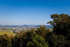 Stary Jicin landmark. Beautiful view on Stary Jicin from the castle. Beautiful Czech landscape Royalty Free Stock Images