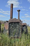 Stary John Deere ciągnik Zdjęcia Stock