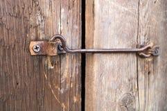 Stary kędziorek drewniani drzwi Obrazy Royalty Free