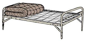 Stary łóżka polowego łóżko Obrazy Royalty Free