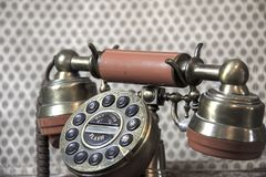 Stary kabla naziemnego telefon obraz royalty free