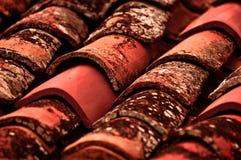 Stary Kafelkowy dachowy zbliżenie Zdjęcia Royalty Free