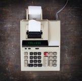 Stary kalkulator - szkoła wyższa Obrazy Stock