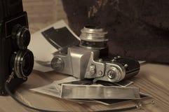 stary kamery światła Zdjęcia Royalty Free