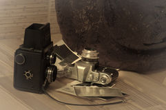 stary kamery światła Obraz Stock