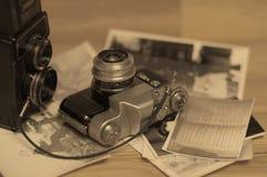 stary kamery światła Obraz Royalty Free