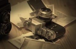 stary kamery światła Fotografia Royalty Free