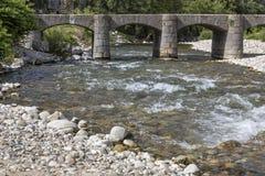 Stary kamienia most, Francja zdjęcie royalty free
