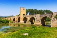 Stary kamienia most nad Ebro Frias Zdjęcie Royalty Free