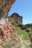 Stary kamiennej ściany byzantine budynek w historycznym monasteru kompleksie Zdjęcie Stock