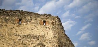 Stary kamienny ścienny sztandar zdjęcia royalty free