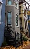 Stary kamienny budynek mieszkalny w Georgetown Waszyngton obraz royalty free
