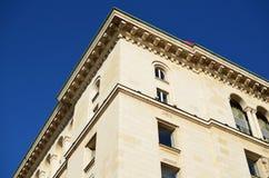Stary kamienny budynek z ornamentami Obraz Royalty Free