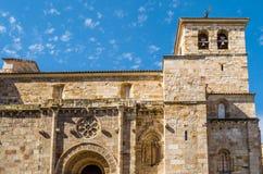 Stary kamienny kościół w Zamora, Hiszpania fotografia stock