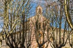 Stary kamienny kościół w Zamora, Hiszpania zdjęcie stock