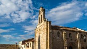 Stary kamienny kościół w Zamora, Hiszpania obrazy stock