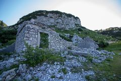 Stary kamienny koszary od 1 wojny światowej zdjęcia stock