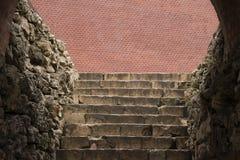 Stary kamienny schody w Aleksander ogródzie blisko Moskwa Kremlin Fotografia Stock