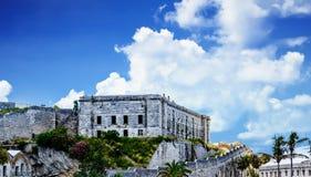 Stary Kamienny więzienie na Bermuda wzgórzu Obrazy Royalty Free