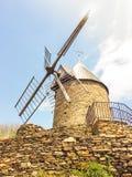 stary kamienny wiatraczek zdjęcie ruchomej Zdjęcia Royalty Free