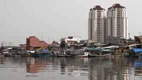 stary kanałowy Jakarta zdjęcia stock