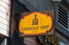 stary kanapka sklepu znak Zdjęcia Stock