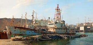 Stary Kaspijski statek Zdjęcia Royalty Free