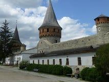 Stary kasztel Kamyanets-Podilsky zdjęcia royalty free