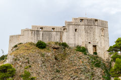 Stary kasztel Lovrijenac w Dubrovnik Fotografia Royalty Free